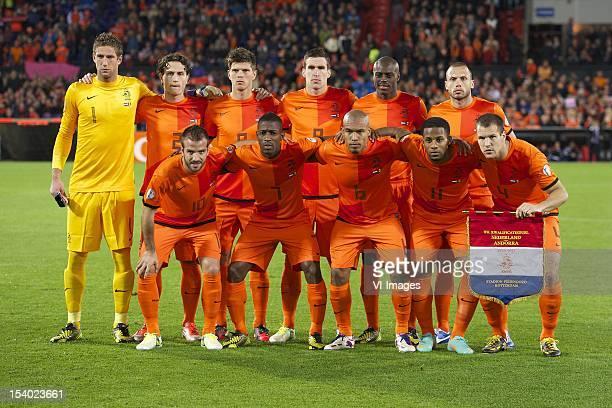 Goalkeeper Maarten Stekelenburg of HollandDaryl Janmaat of HollandKlaas Jan Huntelaar of HollandKevin Strootman of HollandBruno Martins Indi of...