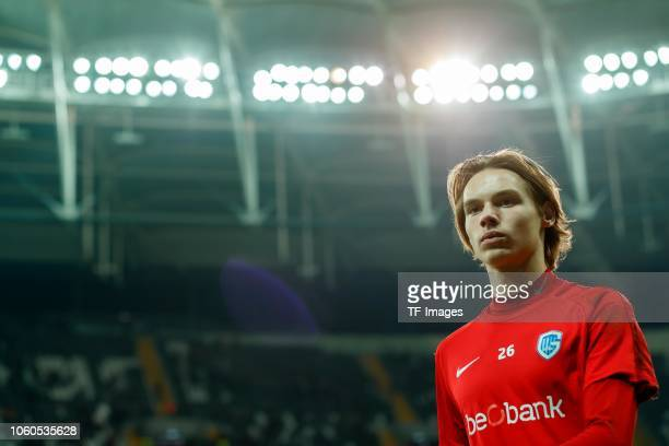 Goalkeeper Maarten Vandevoordt of KRC Genk looks on prior the UEFA Europa League Group I match between Besiktas and KRC Genk at Vodafone Park on...