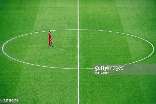 Goalkeeper Manuel Neuer of Germany reacts during the UEFA Nations League group A match between Germany and France at Allianz Arena on September 6...