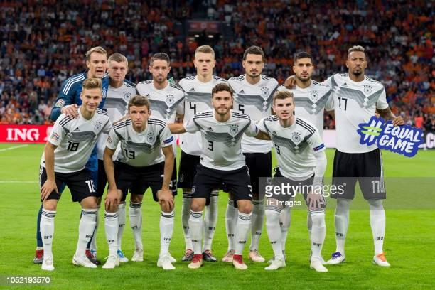 Goalkeeper Manuel Neuer of Germany Toni Kroos of Germany Mark Uth of Germany Matthias Ginter of Germany Mats Hummels of Germany Emre Can of Germany...
