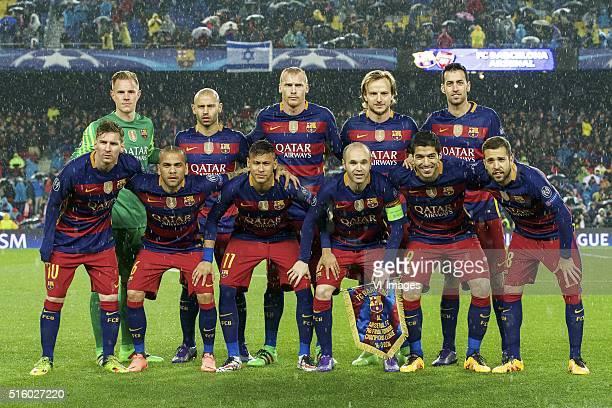 goalkeeper MarcAndre ter Stegen of FC Barcelona Javier Mascherano of FC Barcelona Jeremy Mathieu of FC Barcelona Ivan Rakitic of FC Barcelona Sergio...