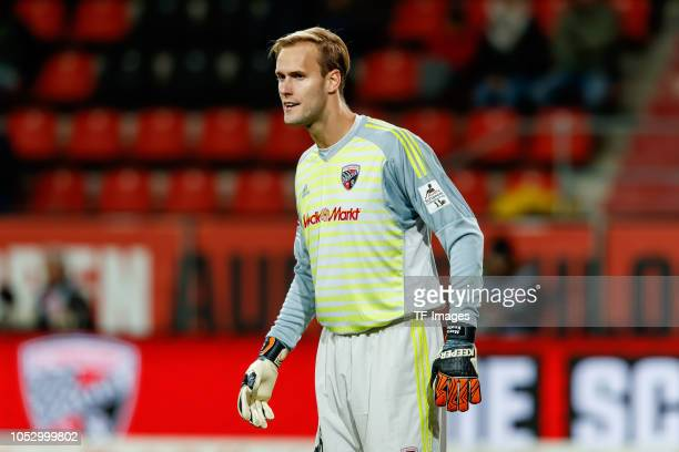 Goalkeeper Marco Knaller of FC Ingolstadt looks on during the Second Bundesliga match between FC Ingolstadt 04 and 1 FC Union Berlin at Audi...