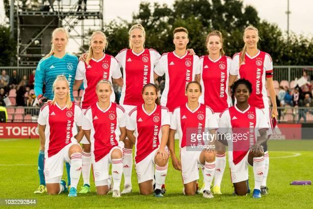 goalkeeper Marieke Ubachs of Ajax women Line Røddik Hansen of Ajax women Kelly Zeeman of Ajax womenn KayLee Sanders of Ajax women Ellen Jansen of...