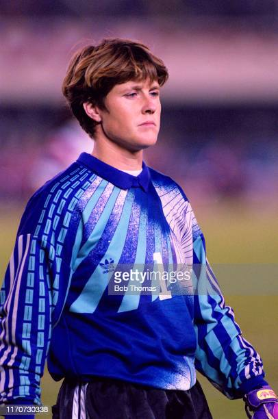 Goalkeeper Mary Harvey of the United States on the pitch during play in the final of the 1991 FIFA Women's World Cup between Norway and the United...