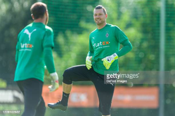 Goalkeeper Max Gruen of Borussia Moenchengladbach looks on during day 2 of the pre-season summer training camp of Borussia Moenchengladbach on August...