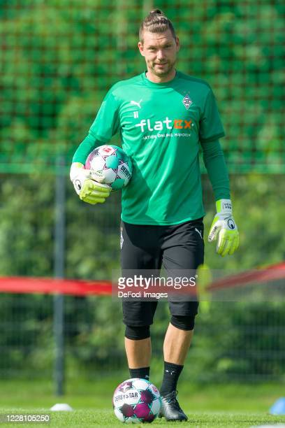 Goalkeeper Max Gruen of Borussia Moenchengladbach looks on during day 3 of the pre-season summer training camp of Borussia Moenchengladbach on August...