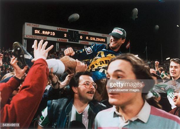 Goalkeeper Michael Konsel after the Snickers Cup Semi Final Rapid Wien vs Austria Salzburg Final score 20 GerhardHanappiStadion 16th May 1995...