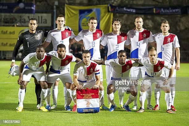 goalkeeper Michel Vorm of Holland Stefan de Vrij of Holland Kevin Strootman of Holland Daryl Janmaat of Holland Ron Vlaar of Holland Stijn Schaars of...