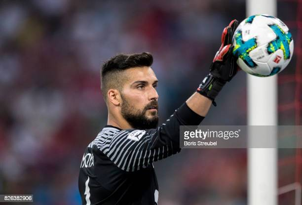 Goalkeeper Miguel Angel Moya of Atletico Madrid looks on during the Audi Cup 2017 match between Liverpool FC and Atletico Madrid at Allianz Arena on...