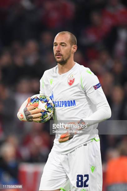 Goalkeeper Milan Borjan looks on during the UEFA Champions League group B match between Bayern Muenchen and Crvena Zvezda at Allianz Arena on...