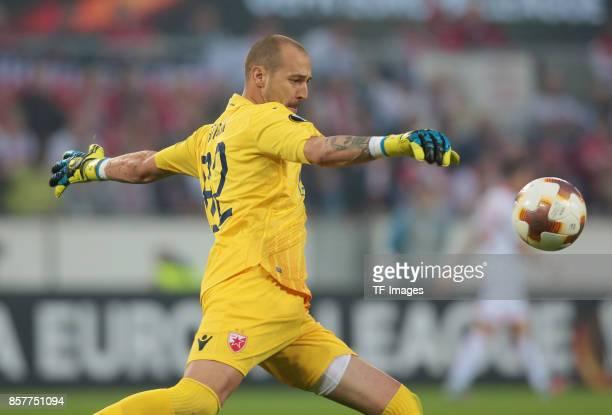 Goalkeeper Milan Borjan of Belgrad in action during the UEFA Europa League group H match between 1 FC Koeln and Crvena Zvezda at RheinEnergieStadion...