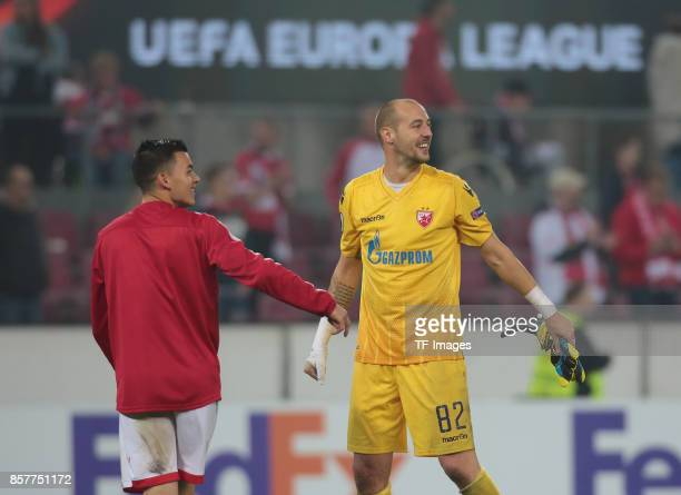 Goalkeeper Milan Borjan of Belgrad looks on during the UEFA Europa League group H match between 1 FC Koeln and Crvena Zvezda at RheinEnergieStadion...