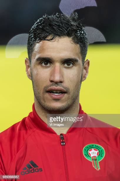 goalkeeper Munir Elkajoui of Morocco during the international friendly match between Morocco and Uzbekistan at the Stade Mohammed V on March 27 2018...