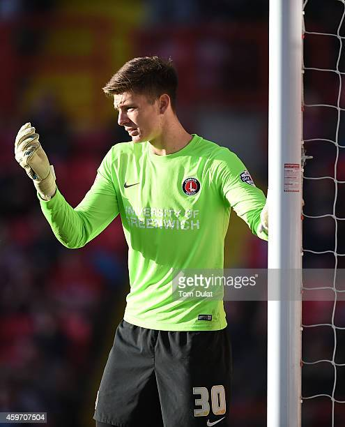 Goalkeeper Nick Pope of Charlton Athletic during the Sky Bet Championship match between Charlton Athletic and Ipswich Town at The Valley on November...