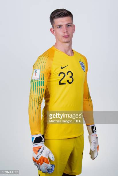 Goalkeeper Nick Pope of England poses for a portrait during the official FIFA World Cup 2018 portrait session at on June 13 2018 in Saint Petersburg...