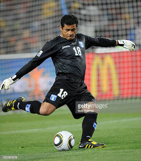 Goalkeeper Noel Valladares of Honduras during the 2010 FIFA World Cup South Africa Group H match between Spain and Honduras at Ellis Park Stadium on...