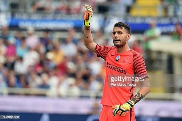 Goalkeeper of Atalanta BC Marco Sportiello gestures during the Serie a match between Atalanta BC and FC Torino at Stadio Atleti Azzurri d'Italia on...