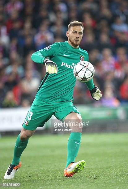 Goalkeeper of Atletico Madrid Jan Oblak in action during the UEFA Champions League quarter final second leg match between Atletico Madrid and FC...