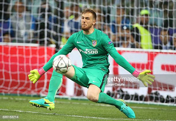 Goalkeeper of Atletico Madrid Jan Oblak in action during the UEFA Champions League final between Real Madrid and Club Atletico Madrid at Stadio...