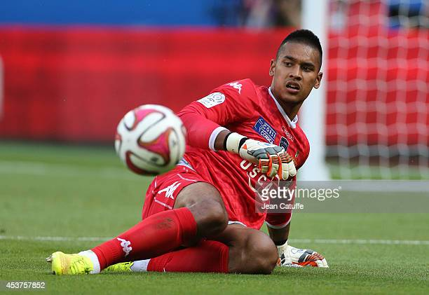 Goalkeeper of Bastia Alphonse Areola in action during the French Ligue 1 match between Paris Saint Germain FC and SC Bastia at Parc des Princes...