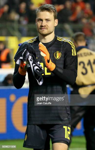 Goalkeeper of Belgium Simon Mignolet during the international friendly match between Belgium and Saudi Arabia on March 27 2018 in Brussel Belgium