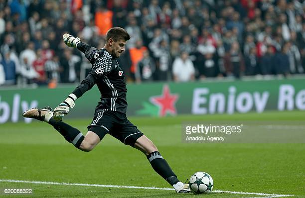 Goalkeeper of Besiktas Fabricio Agosto Ramirez in action during the UEFA Champions League football match between Besiktas and Napoli at the Vodafone...