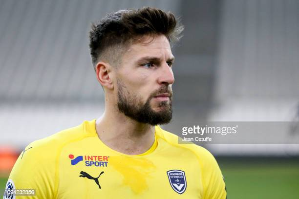 Goalkeeper of Bordeaux Benoit Costil during the French Ligue 1 match between Olympique de Marseille and Girondins de Bordeaux at Stade Velodrome on...