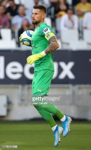 Goalkeeper of Bordeaux Benoit Costil during the Ligue 1 match between FC Girondins de Bordeaux and Paris SaintGermain at Stade Matmut Atlantique on...