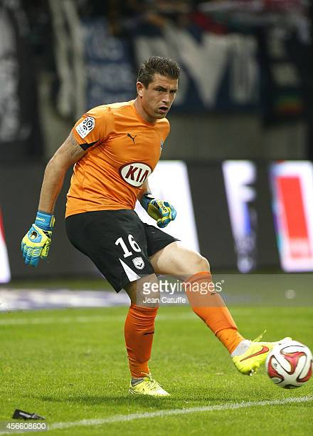 Goalkeeper of Bordeaux Cedric Carrasso in action during the French Ligue 1 match between Stade de Reims and FC Girondins de Bordeaux at the Stade...