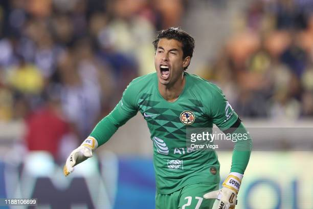 Goalkeeper of Club America Oscar Jimenez reacts during the friendly match between America and Monterrey at BBVA Compass Stadium on November 16 2019...