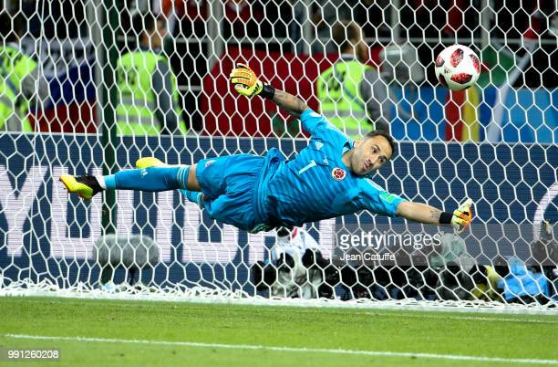 Goalkeeper of Colombia David Ospina stops a penalty during the penalty shootout of the 2018 FIFA World Cup Russia Round of 16 match between Colombia...