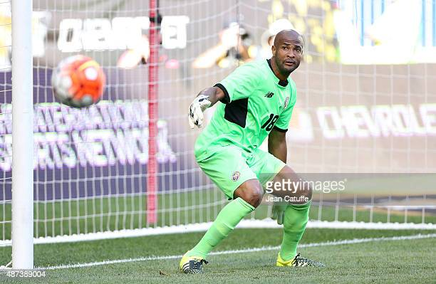 Goalkeeper of Costa Rica Patrick Pemberton in action during the international friendly match between Brazil and Costa Rica at Red Bull Arena on...