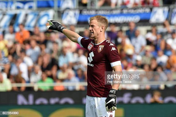 Goalkeeper of FC Torino Joe Hart looks during the Serie A match between Atalanta BC and FC Torino at Stadio Atleti Azzurri d'Italia on September 11...