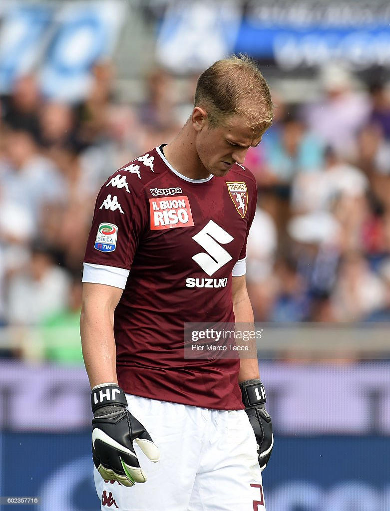 Goalkeeper of FC Torino Joe Hart looks during the Serie a match between Atalanta BC and FC Torino at Stadio Atleti Azzurri d'Italia on September 11, 2016 in Bergamo, Italy.