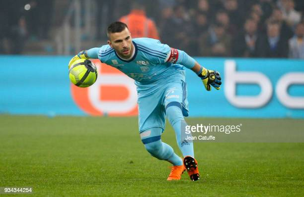 Goalkeeper of Lyon Anthony Lopes during the French Ligue 1 match between Olympique de Marseille OM and Olympique Lyonnais OL at Stade Velodrome on...