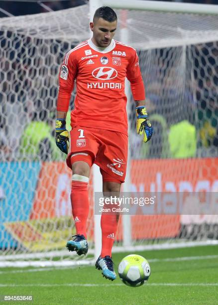 Goalkeeper of Lyon Anthony Lopes during the French Ligue 1 match between Olympique Lyonnais and Olympique de Marseille at Groupama Stadium on...