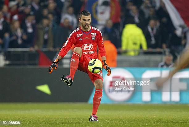 Goalkeeper of Lyon Anthony Lopes in action during the French Ligue 1 match between Olympique Lyonnais and Troyes ESTAC at their brand new stadium...