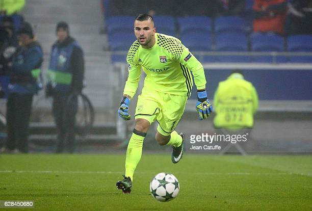 Goalkeeper of Lyon Anthony Lopes in action during the UEFA Champions League match between Olympique Lyonnais and Sevilla FC at Parc OL on December 7...