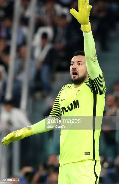 Goalkeeper of Monaco Danijel Subasic during the UEFA Champions League semi final second leg match between Juventus Turin and AS Monaco at Juventus...