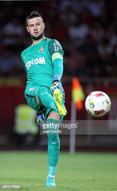 Goalkeeper of Monaco Danijel Subasic in action during the French Ligue 1 match between AS Monaco and Paris SaintGermain at Stade Louis II on August...