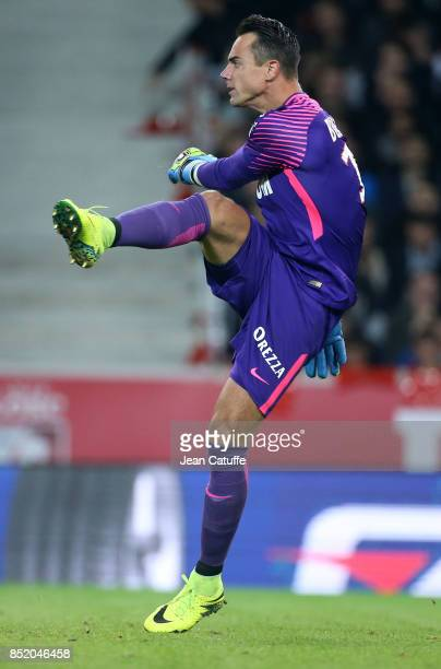 Goalkeeper of Monaco Diego Benaglio during the French Ligue 1 match between Lille OSC and AS Monaco at Stade Pierre Mauroy on September 22 2017 in...