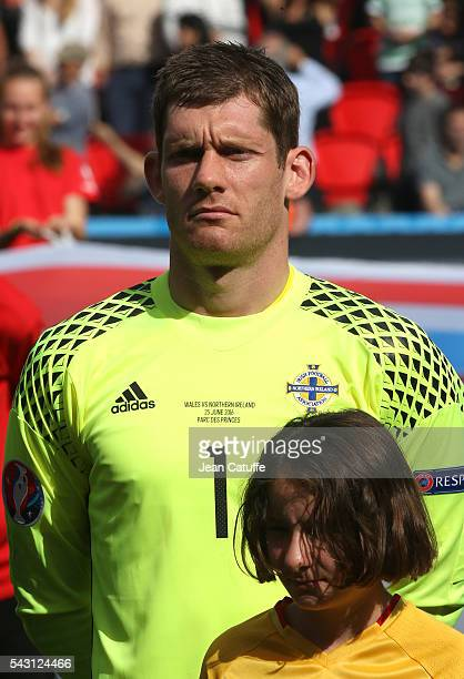 Goalkeeper of Northern Ireland Michael McGovern looks on before the UEFA EURO 2016 round of 16 match between Wales and Northern Ireland at Parc des...