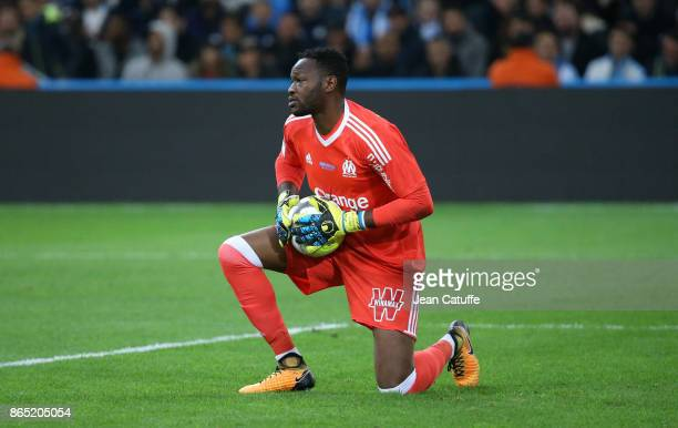 Goalkeeper of OM Steve Mandanda during the French Ligue 1 match between Olympique de Marseille and Paris Saint Germain at Stade Velodrome on October...