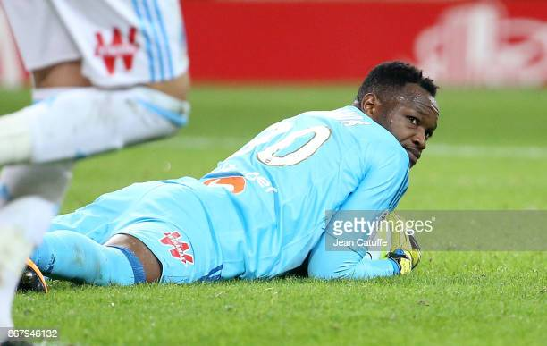 Goalkeeper of OM Steve Mandanda during the French Ligue 1 match between Lille OSC and Olympique de Marseille at Stade Pierre Mauroy on October 29...