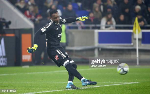 Goalkeeper of OM Steve Mandanda during the French Ligue 1 match between Olympique Lyonnais and Olympique de Marseille at Groupama Stadium on December...