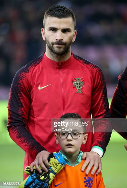 Goalkeeper of Portugal Anthony Lopes poses before the international friendly match between Portugal and the Netherlands at Stade de Geneve on March...