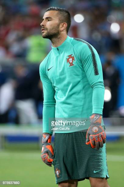 Goalkeeper of Portugal Anthony Lopes warms up before the 2018 FIFA World Cup Russia group B match between Portugal and Spain at Fisht Stadium on June...