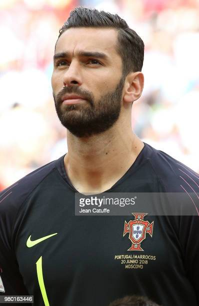 Goalkeeper of Portugal Rui Patricio during the 2018 FIFA World Cup Russia group B match between Portugal and Morocco at Luzhniki Stadium on June 20...