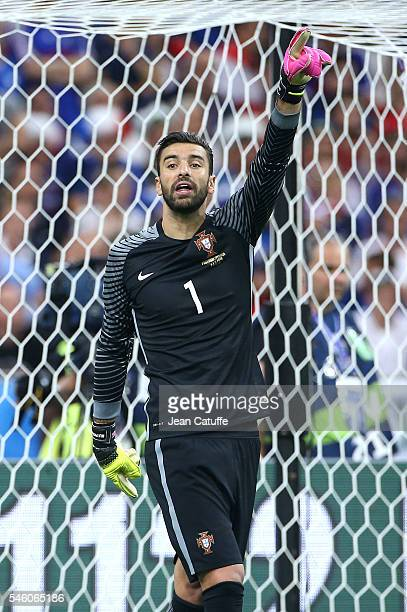Goalkeeper of Portugal Rui Patricio in action during the UEFA Euro 2016 final match between Portugal and France at Stade de France on July 10 2016 in...