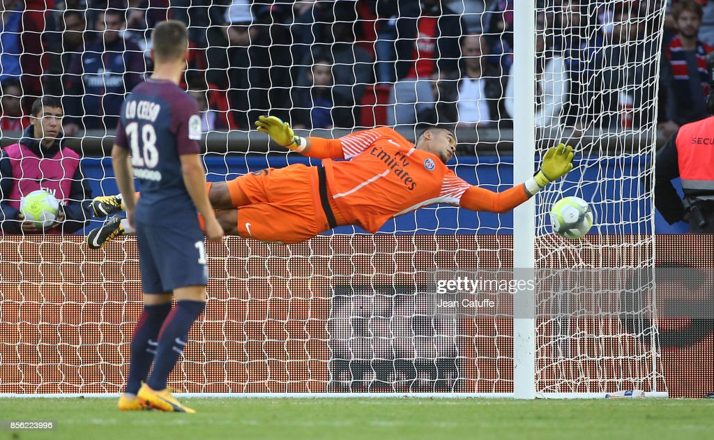 Goalkeeper of PSG Alphonse Areola during the French Ligue 1 match ...